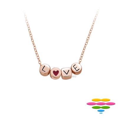 彩糖鑽工坊桃樂絲Doris系列銀鍍玫瑰金項鍊