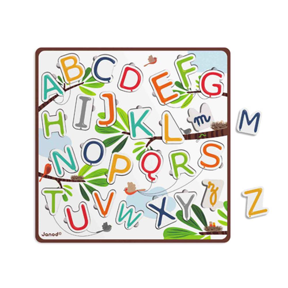 法國Janod - 字母氣球木頭學習拼圖 J07031