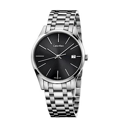 CALVIN KLEIN Time時光系列時尚黑面女錶-36mm
