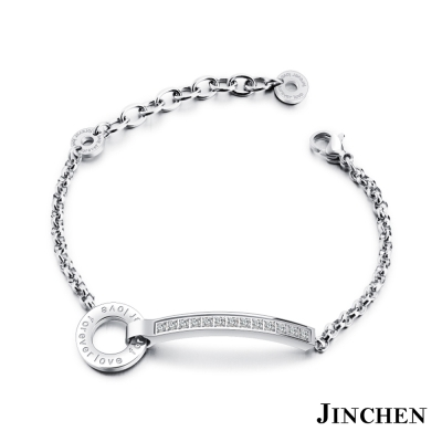 JINCHEN 白鋼FOREVER LOVE手鍊