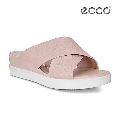 ECCO TOUCH SANDAL PLATEAU 厚底寬帶交叉涼鞋-粉