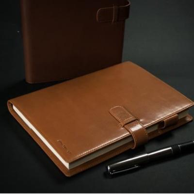 24MAMA-  歐款真皮客製筆記  萬用手冊 筆記本 信用卡夾層 筆插套
