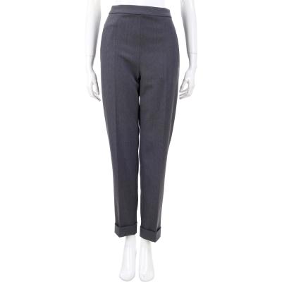 PHILOSOPHY 灰色褲管反摺設計羊毛西裝褲
