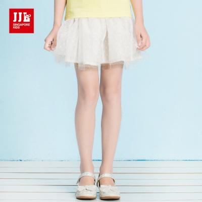 JJLKIDS 夢幻金蔥亮片點綴網紗短裙(白色)