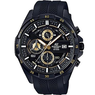EDIFICE  黑旋風運動計時腕錶(EFR-556PB-1A)黑/48.7mm