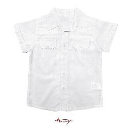 Annys質感紳士立挺條紋壓紋襯衫*3382白