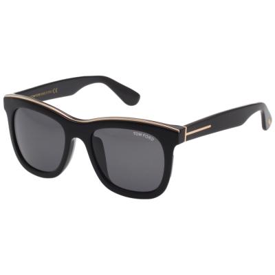 TOM FORD 帥氣方框 太陽眼鏡-黑色-TOM414D