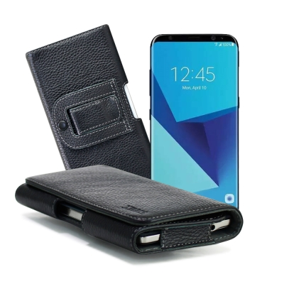 XM Samsung Galaxy J7 Pro / S8 麗緻真皮腰掛皮套