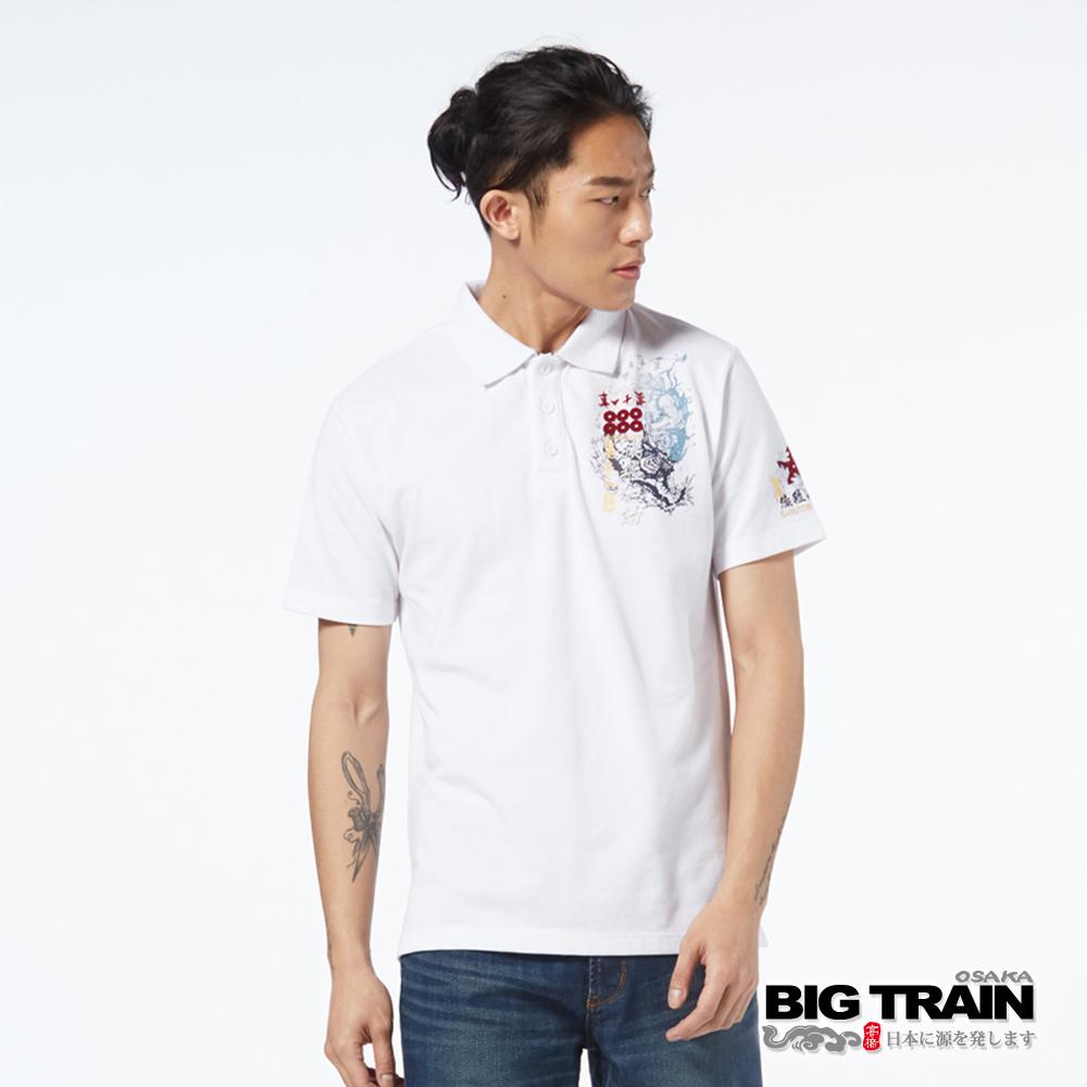 BIG TRAIN 猿飛佐助POLO衫-男-白色