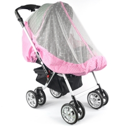 YIP Baby 高級推車專用蚊帳 (通用款)-粉紅