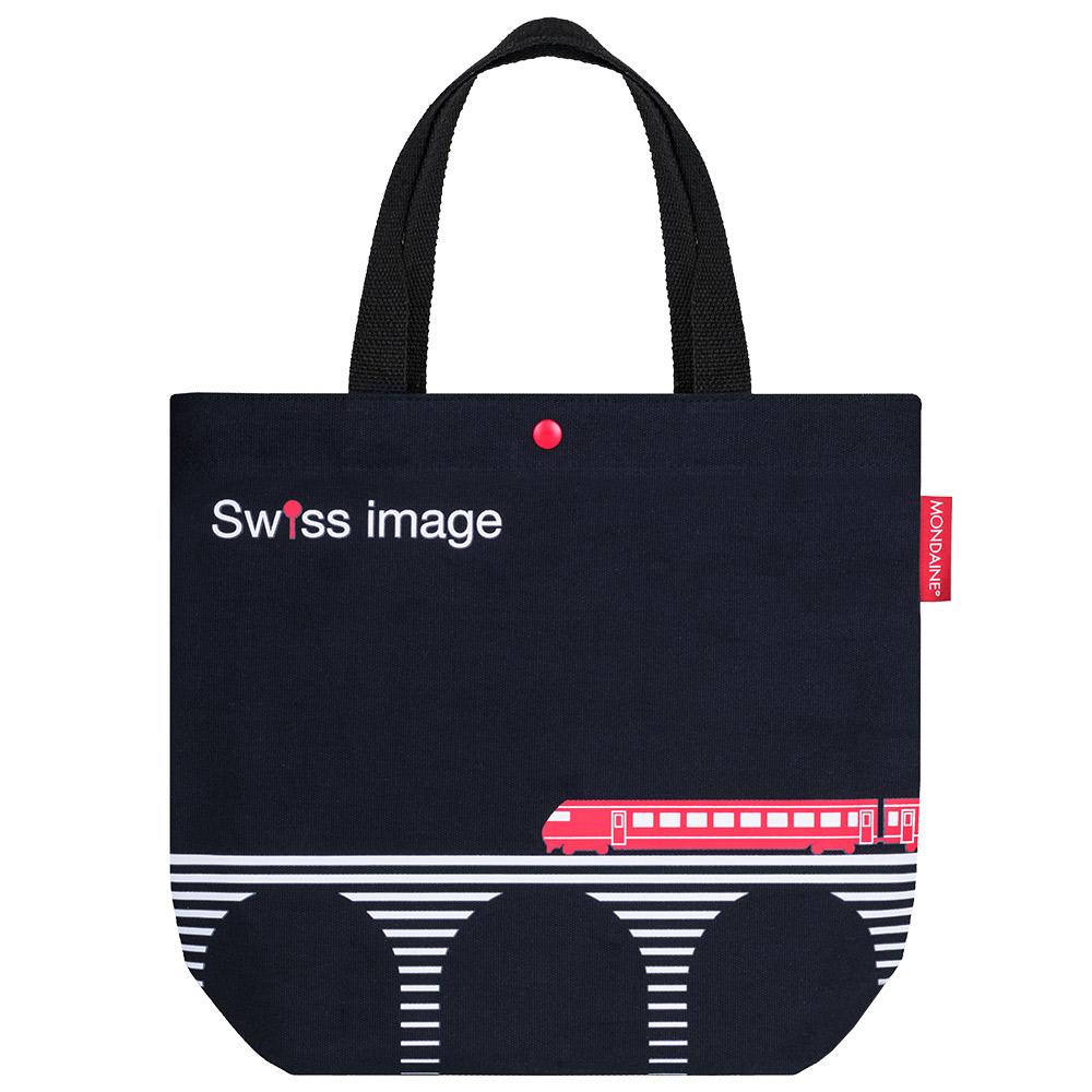 MONDAINE 瑞士國鐵限量瑞士火車帆布手提袋