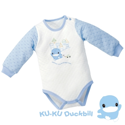 KU.KU酷咕鴨-遊戲格紋連身裝
