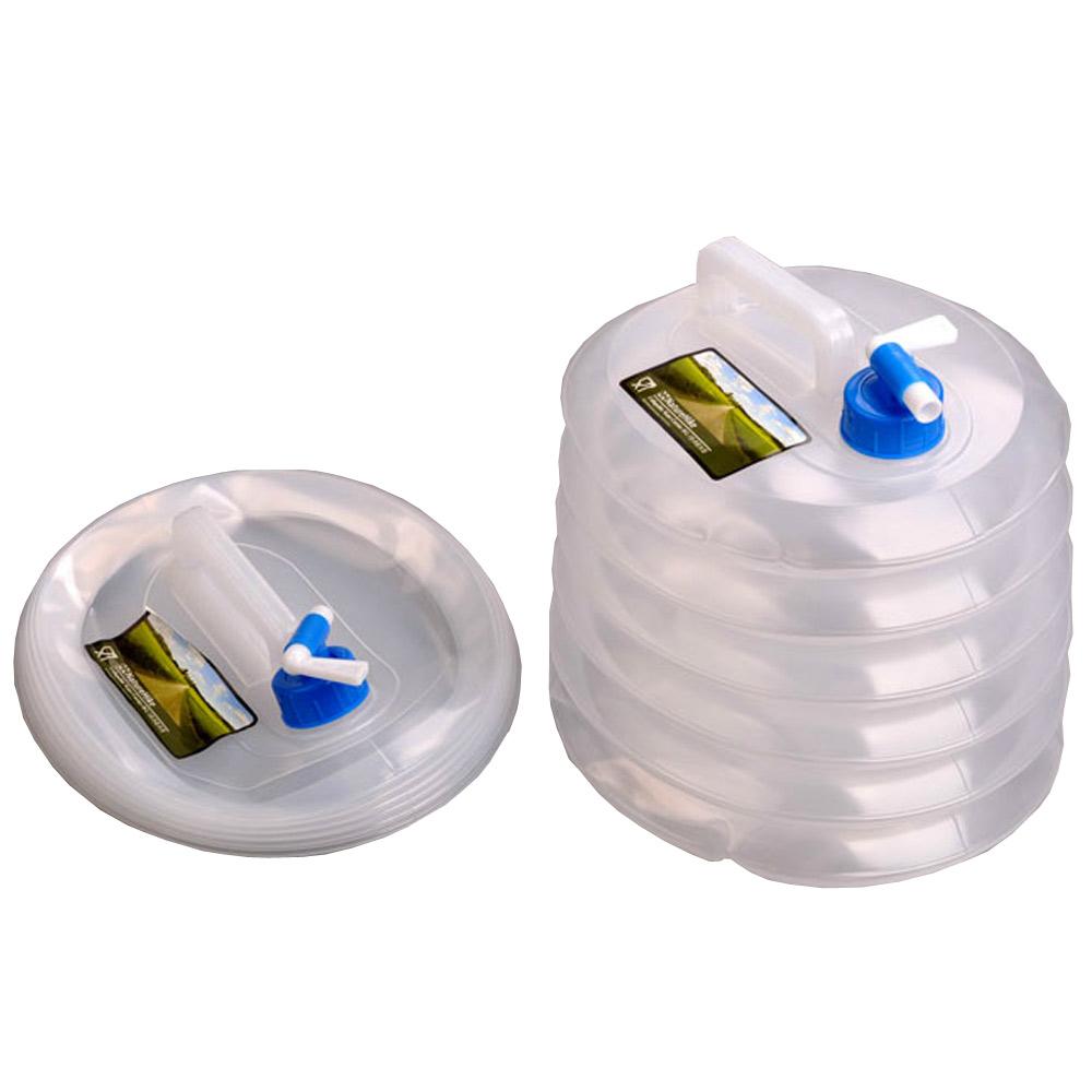 PUSH! 戶外休閒用品 15公升食品級PE折疊水桶 折疊水壺P02