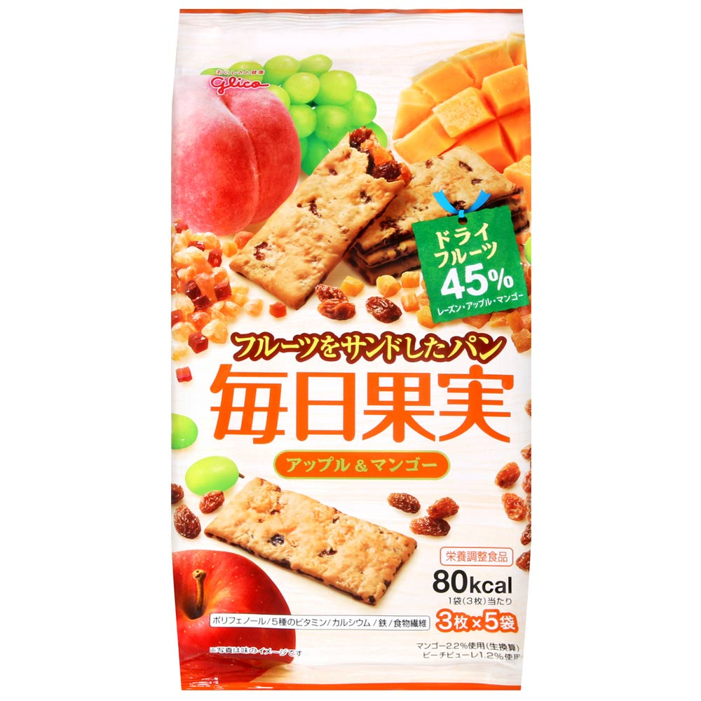 Glico固力果 每日果實餅乾-蘋果&芒果(112.5g)