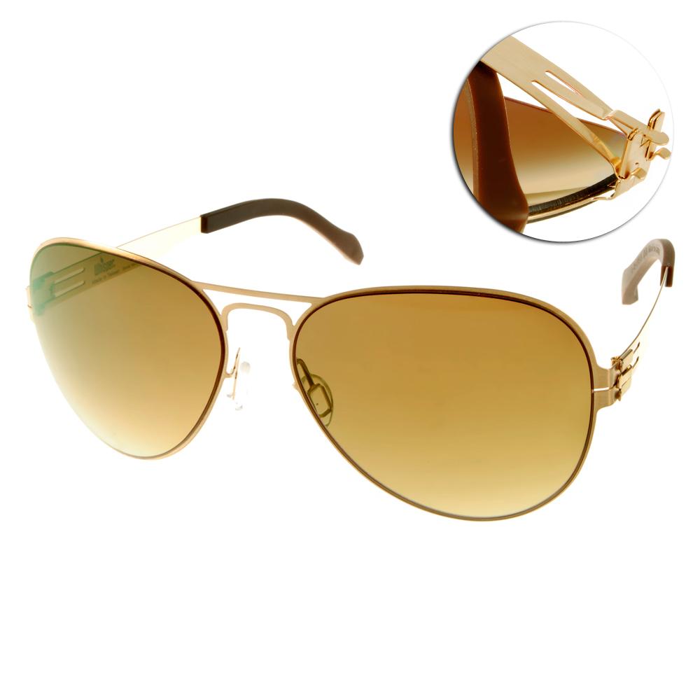Whisper太陽眼鏡 薄翼鏡框/金-咖啡#WHM0006S C37BL