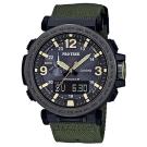 PROTREK粗曠威武戶外活動高亮度照明登山錶(PRG-600YB-3)黑框X軍綠57mm