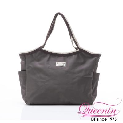 DF Queenin - 韓版百搭輕便式多用途手提包-咖啡