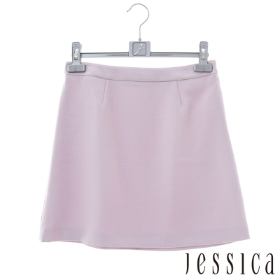 JESSICA-簡約時尚素面短裙-粉色