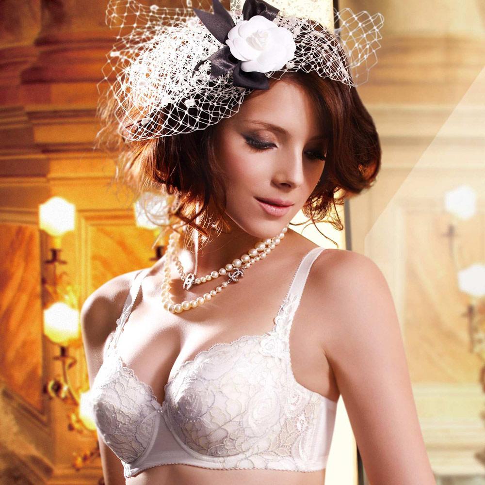 【莎露】大美人系列F70-F85罩杯內衣(珍珠白)