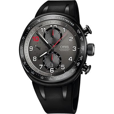 oris Grand Prix賽事歐陽若曦計時限量機械腕錶-黑/44mm
