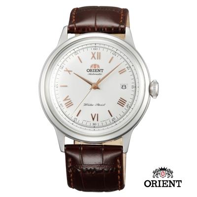 ORIENT 東方錶 DATE II 羅馬競技場皮帶機械錶-白/40.5mm