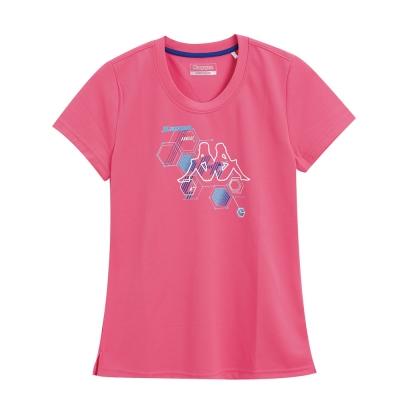 KAPPA義大利 時尚吸濕速乾KOOL DRY 女排汗衫 亮桃粉 寶藍