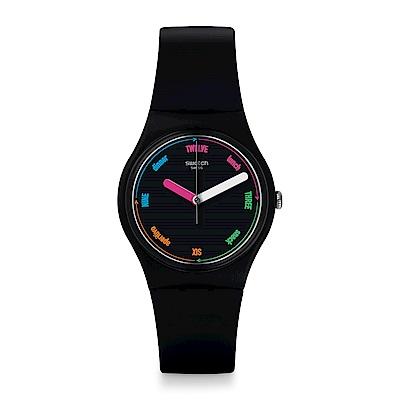 Swatch 原創系列 THE STRAPPER 彩色時刻手錶
