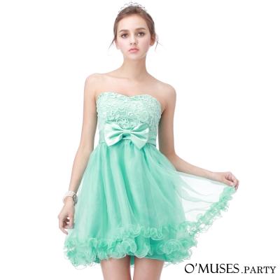 V-蕾絲宴會短禮服-OMUSES-PARTY
