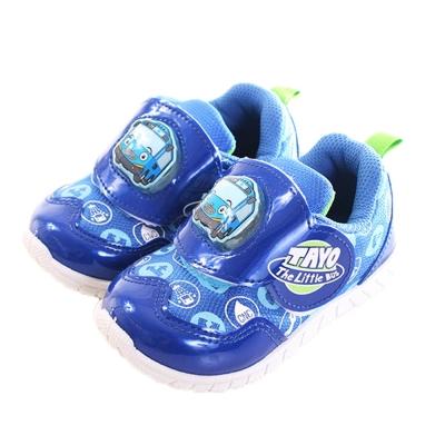 TAYO 小巴士 閃燈魔鬼貼運動鞋 藍 sk0214 魔法Baby