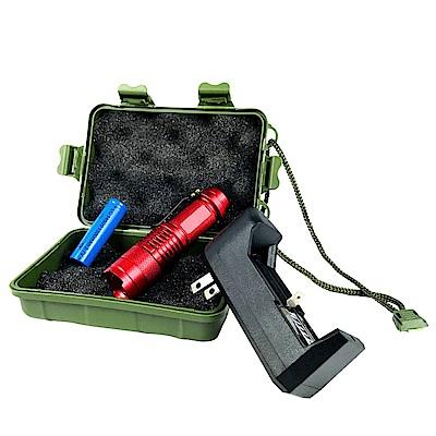 Q5可伸縮調光迷你強光手電筒 精選套組-1入