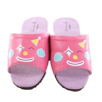 防滑靜音皮拖鞋(2雙一組) 桃小丑 sd0044魔法Baby