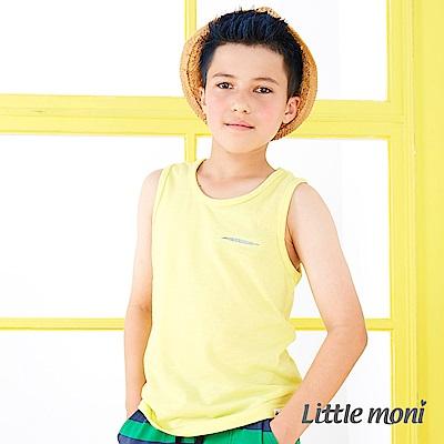Little moni 街頭時尚素面背心 黃色