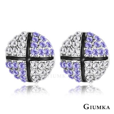 GIUMKA 滾動愛情 水晶耳環-紫