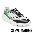 STEVE MADDEN-CURRENT 綁帶拼接休閒鞋-黑綠