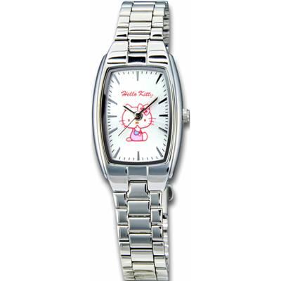 HELLO KITTY凱蒂貓都會典藏細緻指針腕錶 白/19mm