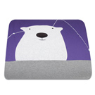 Yvonne Collection5x7呎北極熊單人四季被-紫