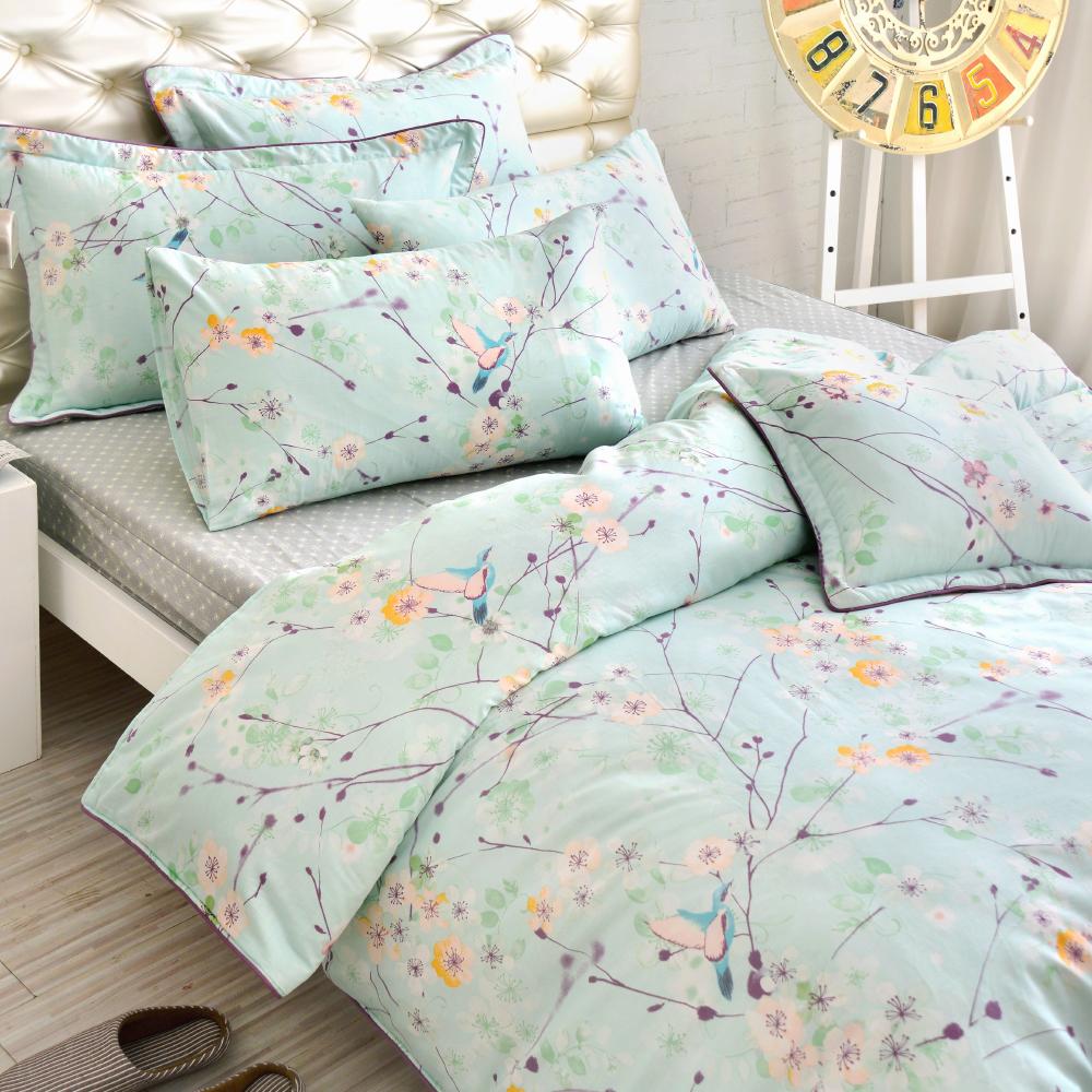 Grace Life 點綴閃耀 精梳純棉雙人涼被床包四件組