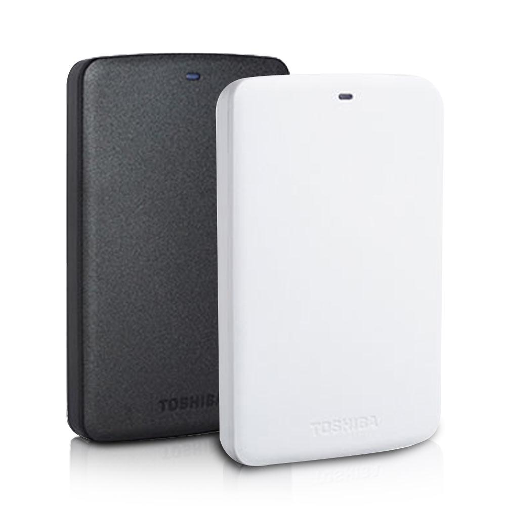 TOSHIBA 2TB USB3.0 2.5吋行動硬碟 黑/白靚潮II