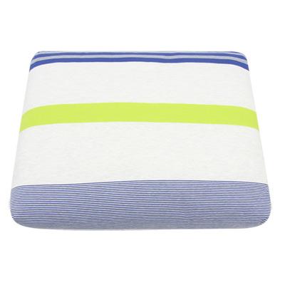 Yvonne Collection6x7呎變色條紋雙人四季被-灰藍