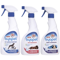 Byopet消毒清潔噴劑、寵物專用乾洗噴劑、布製品除臭消毒噴劑