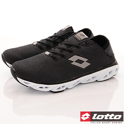 Lotto樂得-減震風動運動鞋-FI500黑(男段)
