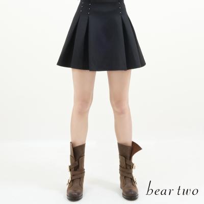 beartwo-亮眼裝飾打摺造型短裙-共二色