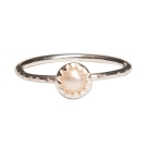 Pura Vida 美國手工 珍珠造型 純銀戒指