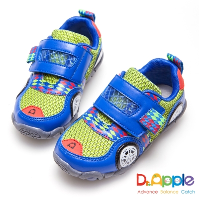 Dr. Apple 機能童鞋 急速旋風跑跑印花運動童鞋-藍