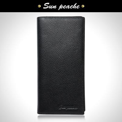 Sun peache 尊爵雅仕荔紋牛皮長夾-PH21011