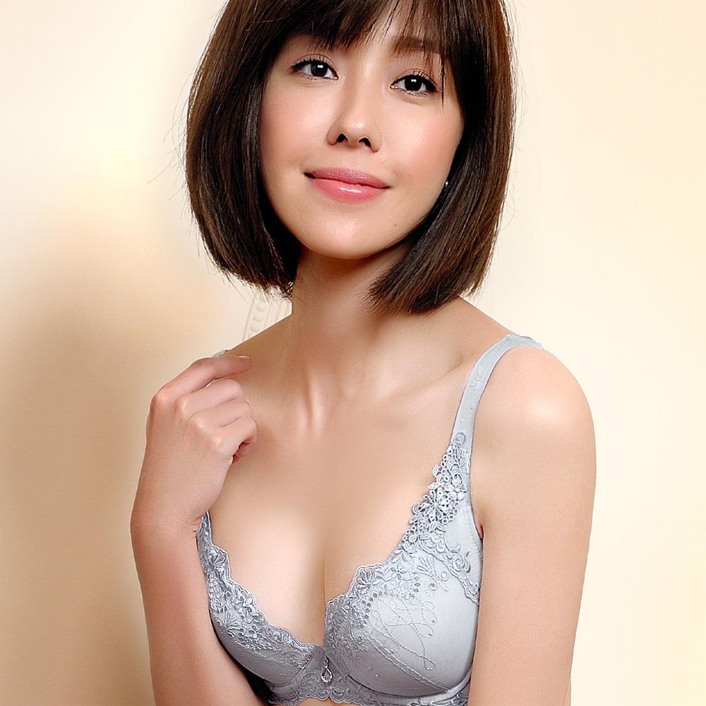 推Audrey-魔塑3D美膚 大罩杯B-E罩內衣(星晨灰)