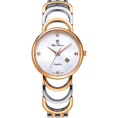 Olym Pianus 奧柏表 恬靜時光石英腕錶-雙色 2491LSR