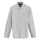 Hang Ten - 男裝 - 都會拼色長袖襯衫-灰色