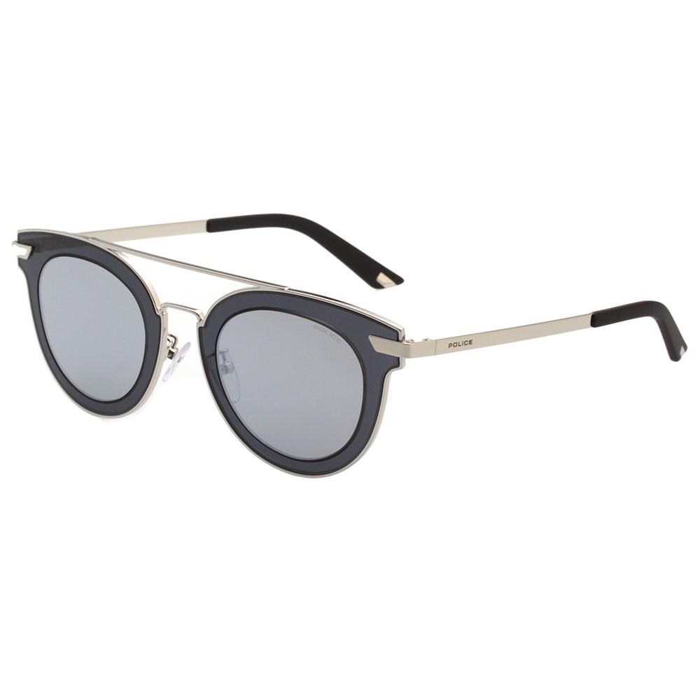 POLICE - 復古感 水銀面太陽眼鏡 (藍灰)PE-SPL349