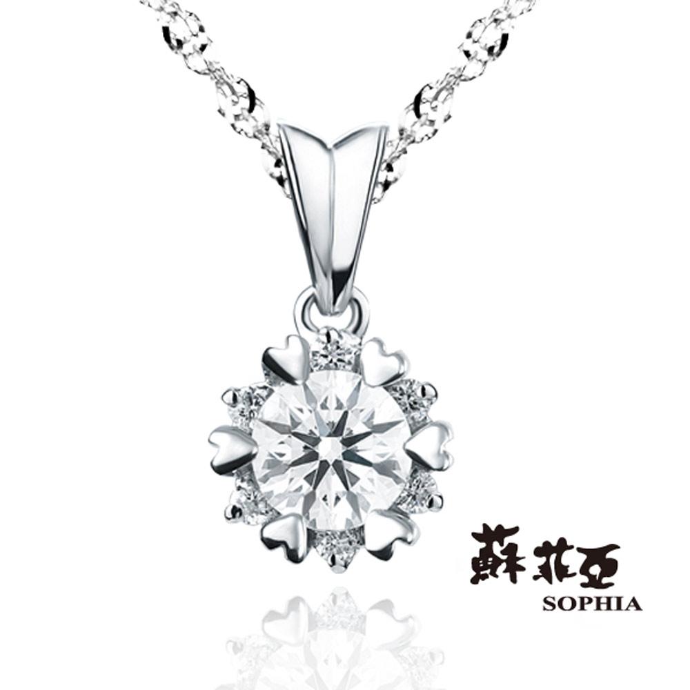 蘇菲亞SOPHIA 鑽石項鍊-費洛拉0.30克拉FVVS1 3EX 鑽鍊